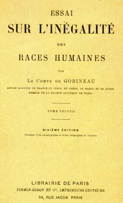 essay on the inequality of the human race Essai sur l'inã©galitã© des races humaines (essay on the inequality of the human races, 1853â€1855) by joseph arthur, comte de gobineau, was a book.